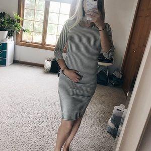 Mid length striped dress